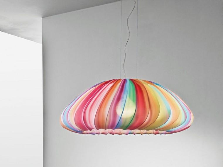 colores vibrantes casa lampara techo ideas
