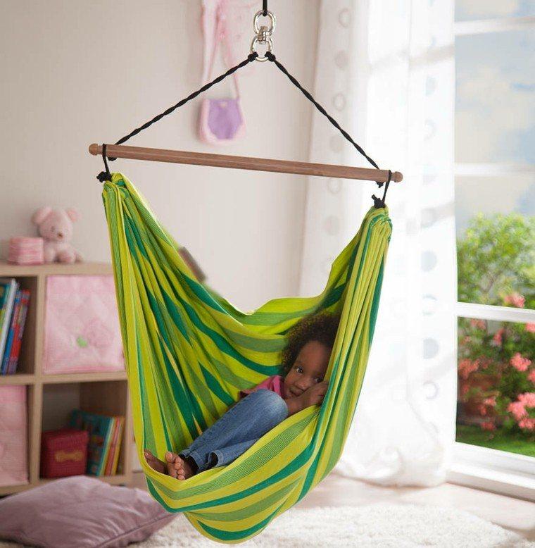 columpio colores vibrantes verde exterior ideas