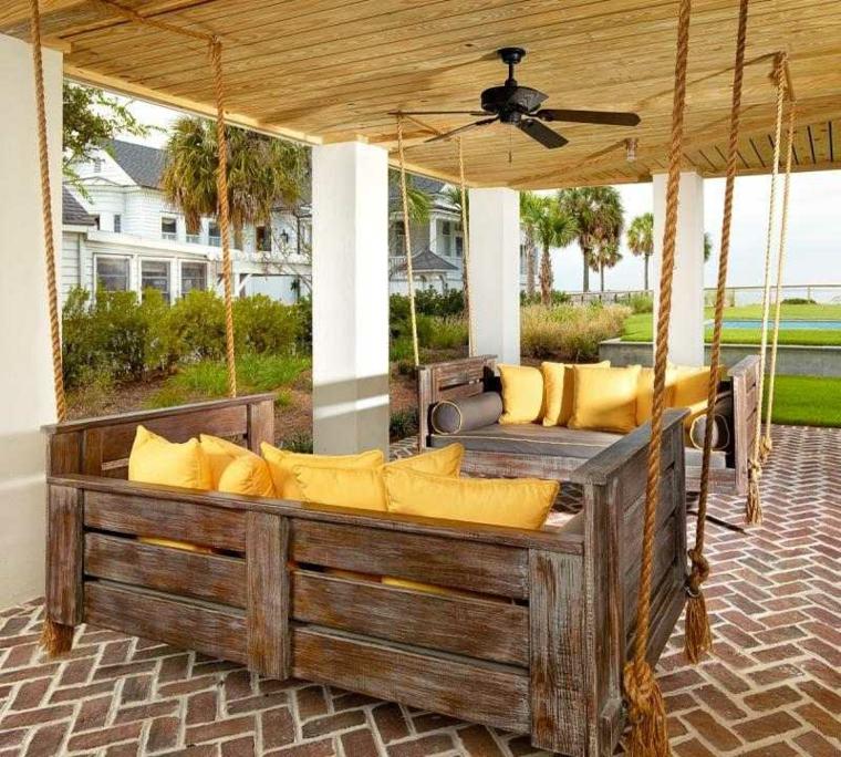 Muebles hechos con palets de madera cincuenta ideas - Como hacer muebles de jardin con palets ...