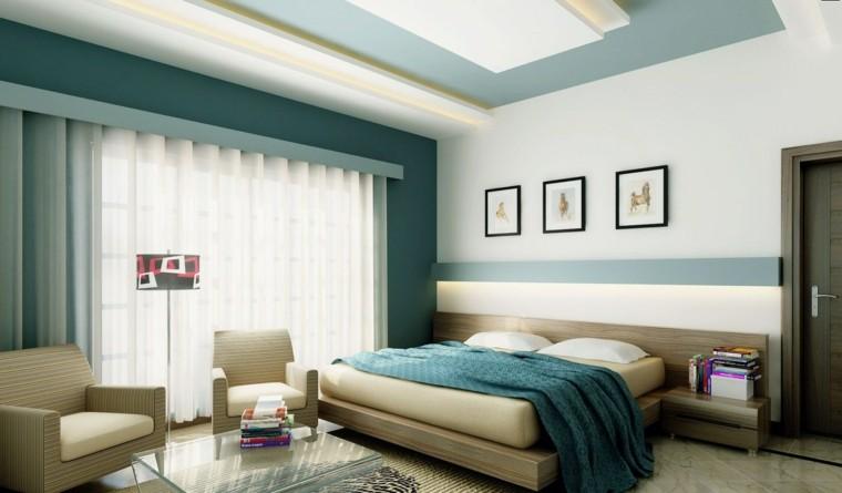 Combinaciones de colores para las paredes del dormitorio - Colores azules para habitaciones ...