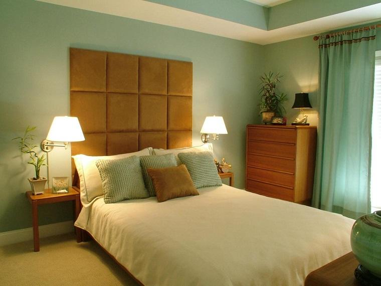 Combinaciones de colores para las paredes del dormitorio ~ Verde No Quarto Feng Shui