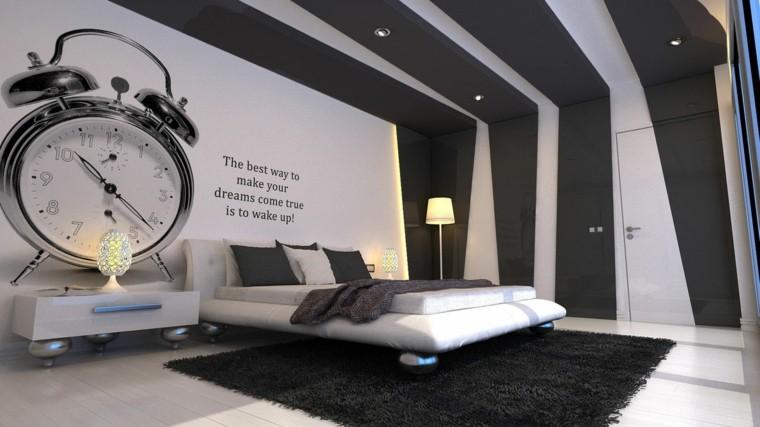 combinaciones de colores ideas interior blanco negro modernas