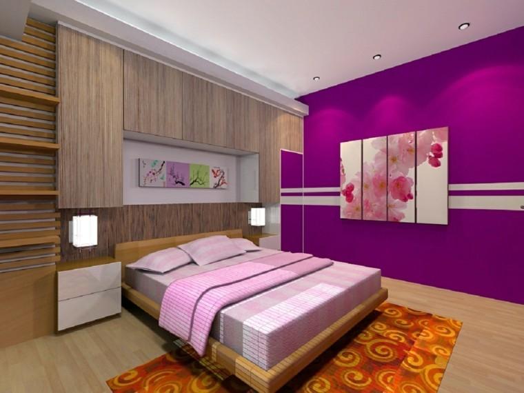 Combinaciones de colores para las paredes del dormitorio - Combinacion de colores en paredes ...
