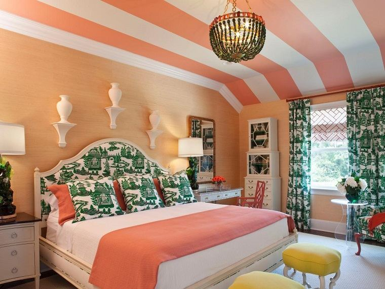 Combinaciones de colores para las paredes del dormitorio - Color salmon en paredes ...