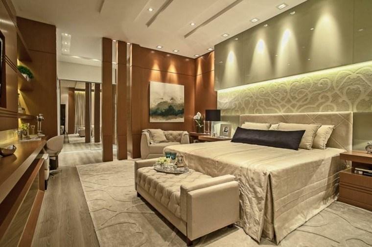 combinacion verde claro madera pared dormitorio estilo