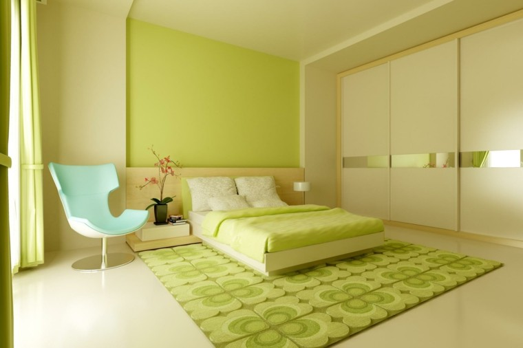 Combinaciones de colores para las paredes del dormitorio - Beautiful pictures of lime green bedroom decoration design ideas ...