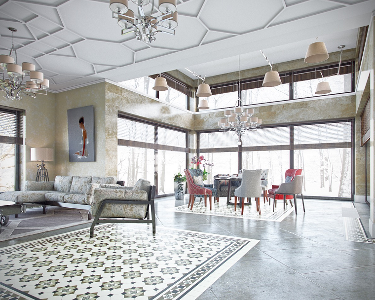 comedor amplio luminoso abierto salon sofa ideas