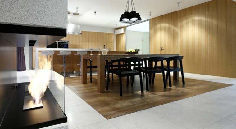 comedor cocina estilo moderno sillas