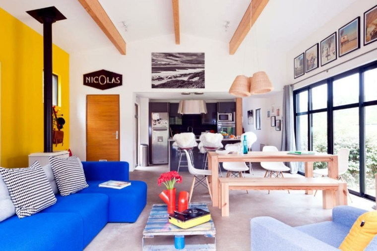 comedor luminos ideas abierto salon sofa ideas