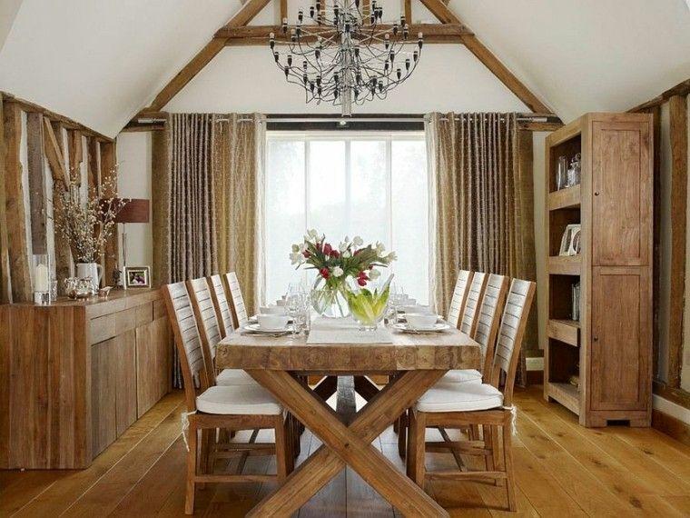 comedor madera calido araña muebles