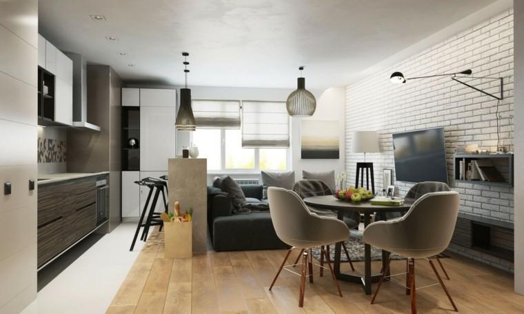 Estudios y lofts con mucha clase y estilo for Estilo moderno interiores