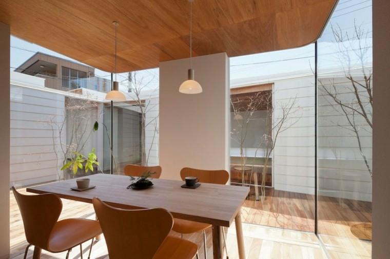 Techos de madera cincuenta ideas modernas for Comedor moderno de madera