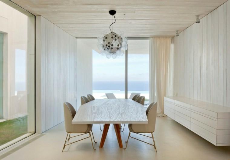 comedor precioso casa Sardinera mesa madera ideas