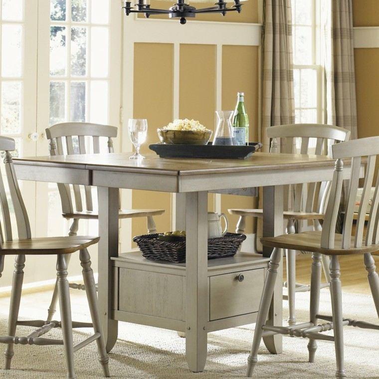 conjunto comedor mesa 4 sillas blancas 135433 conjunto