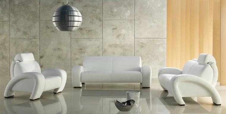conjunto sillones sofa modernos blancos