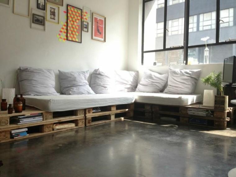 Muebles hechos con palets de madera cincuenta ideas for Muebles sillones sofas