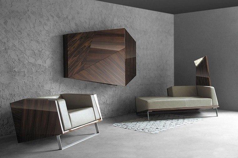contemporaneo muebles espacio geometrico madera