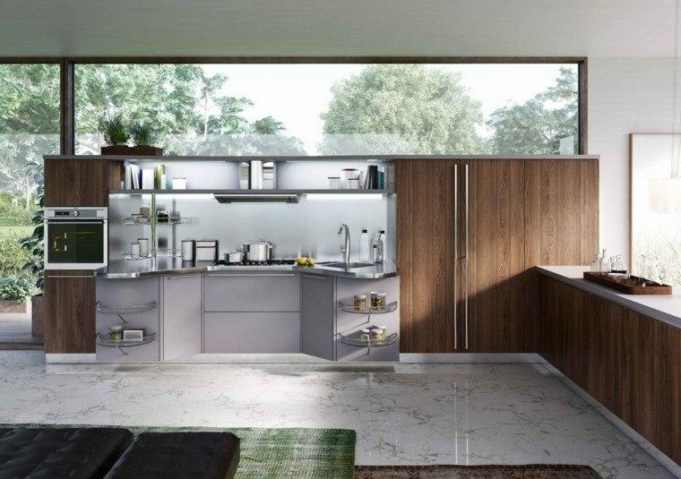 cocina madera suelo marmol laminado