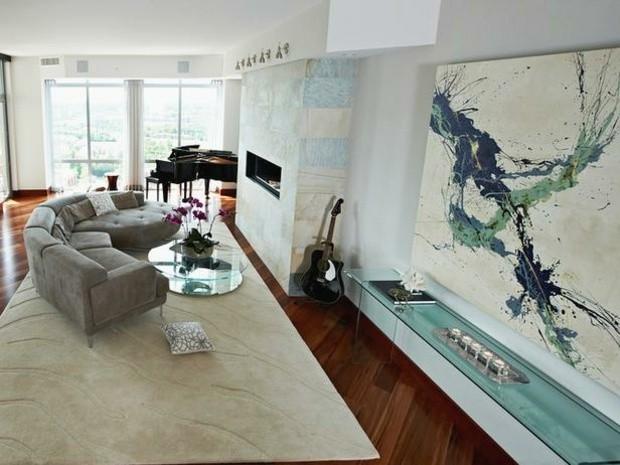 Colores vivos para la decoraci n de salas de estar for Cuadros para salones grises
