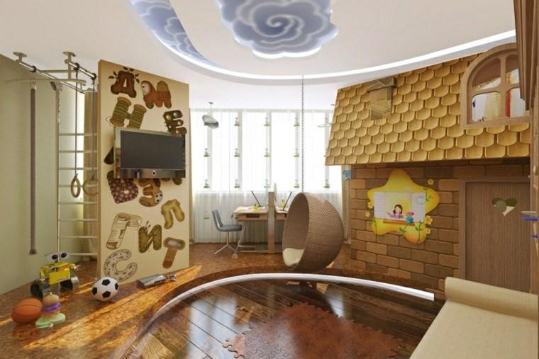 cuarto infantil decoracion cielo