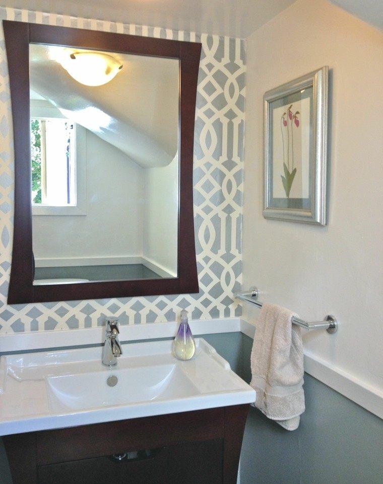solucin para tocador pequeo cuartos de bao decoracion espejo madera tradicional