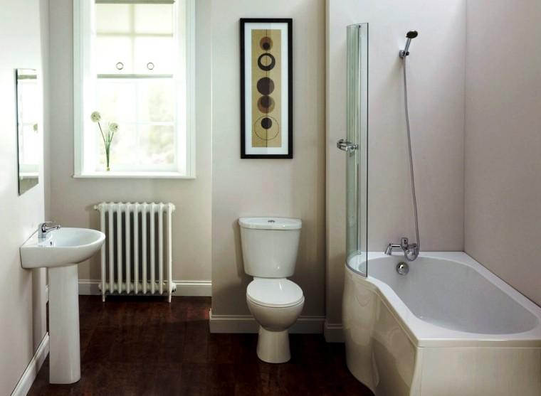 cuartos de bano con ducha banera cuadro ideas bano
