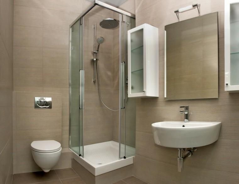 cuartos de bano con ducha mamapara cristal transparente ideas