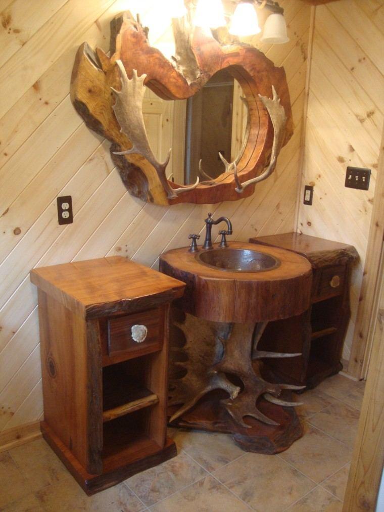 cuernos calido baño pared acogedor