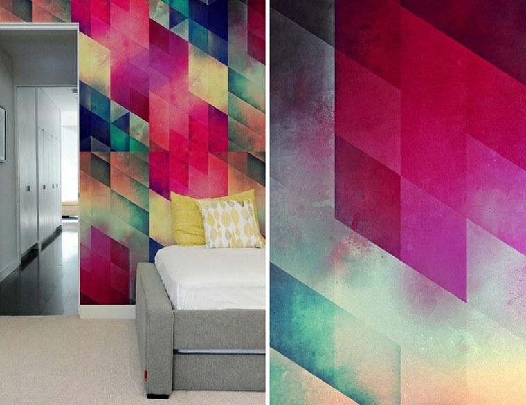 decoracion paredes pinceladas colores