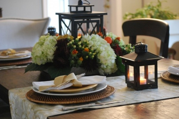 decoracion rustica centro mesa