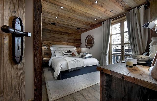 decoracion rustica elementos madera techo