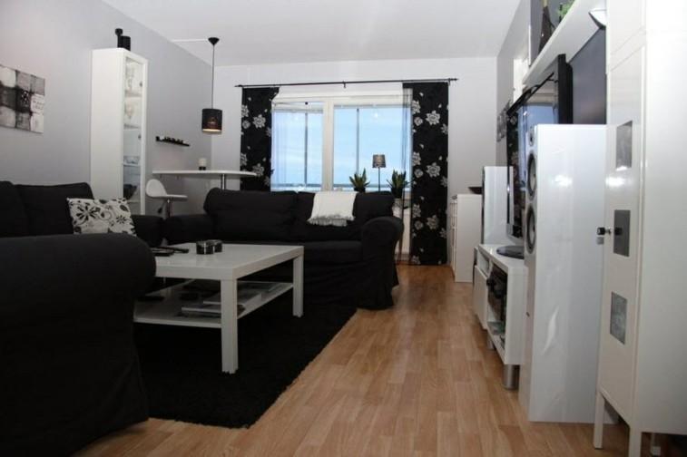 Decorar salas de estar en blanco y negro se atreve - Salones en blanco y negro ...