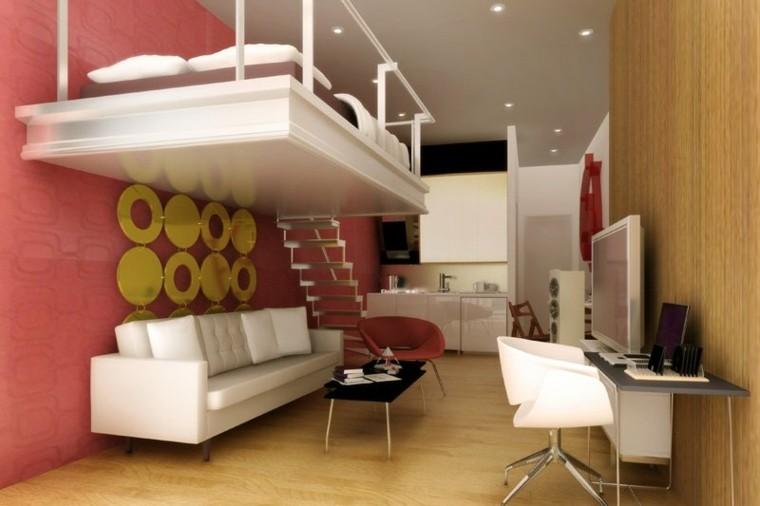 decoraacion de interiores duplex cama