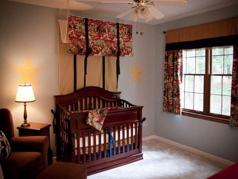 decoracion cunas bebe cama madera marron moderna