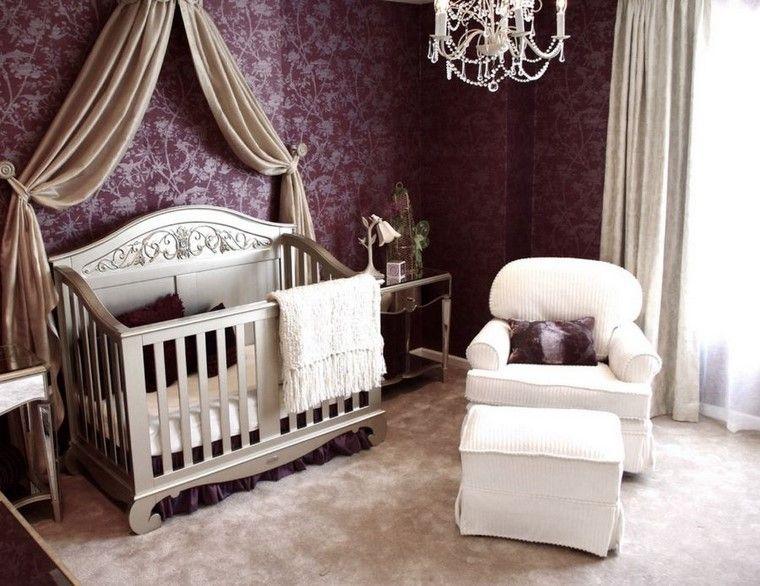 decoracion cunas bebe lujosas butaca blanca comoda ideas