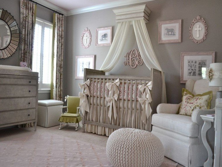 decoracion cunas bebe somras grises precioso ideas