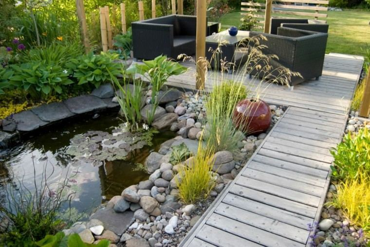 decoracin de jardines estaques pequenos ideas originales modernas - Como Decorar Un Jardin