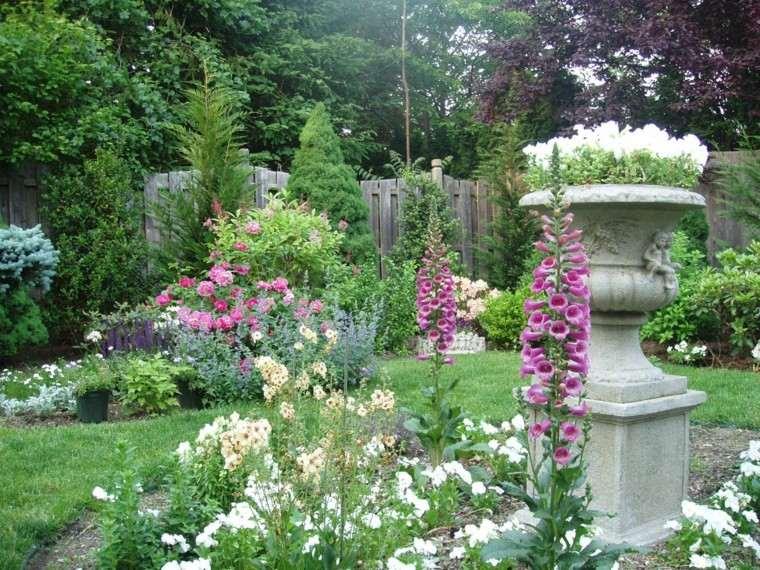 decoración de jardines macetas hormigon grandes bonitas