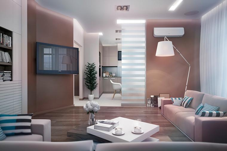 decoración de salones modernos colores claros ideas