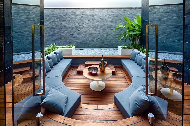 decoración de salones modernos suelo madera sofa ideas
