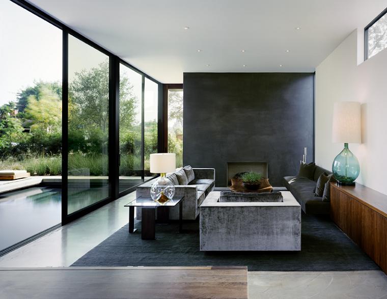 decoración de salones modernos ventanal luminoso ideas