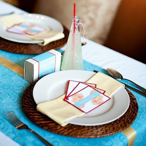 decoracion mesa original infantil azul