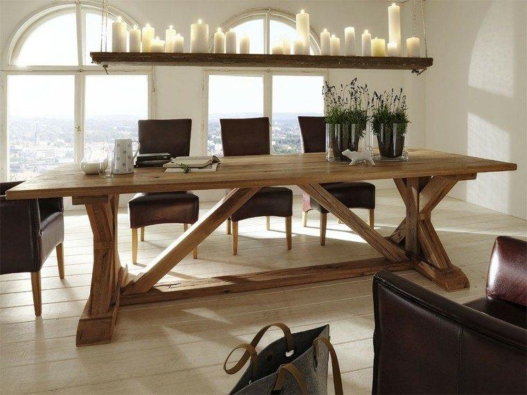 decoracion rustico estilo velas mesa