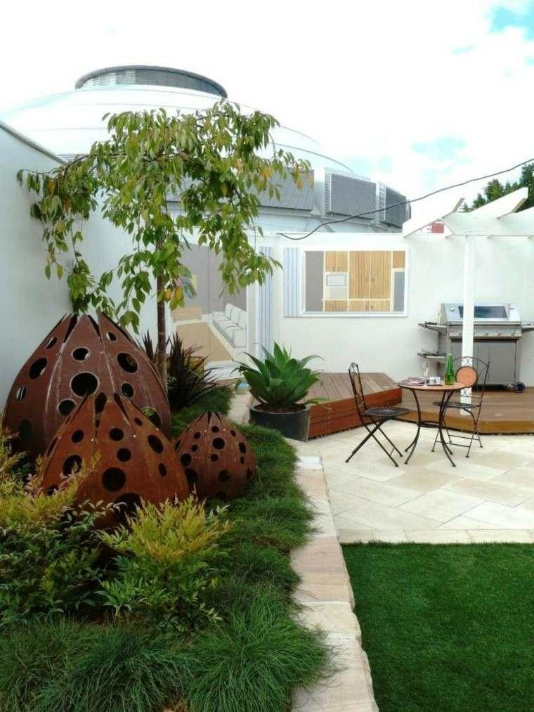 decoraciones jardin forma interesante distintos tamanos ideas