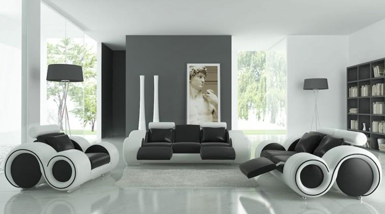 Decorar salas de estar en blanco y negro, Â¿se atreve?