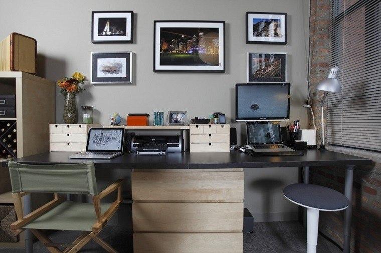 despacho estilo moderno ladrillo visto