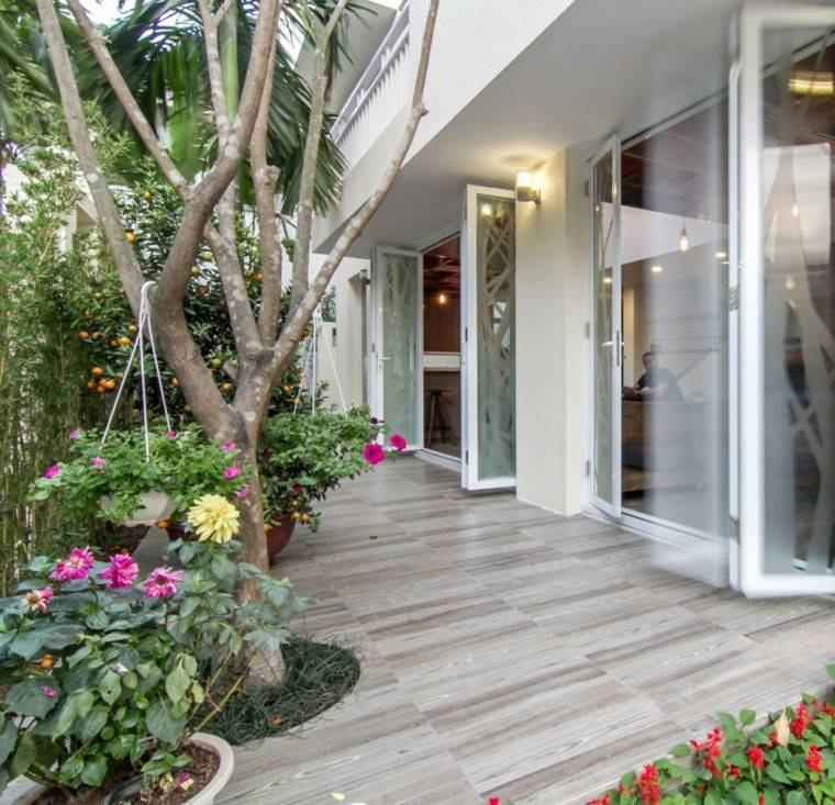 diseño arquitectura flores exterior plantas flores