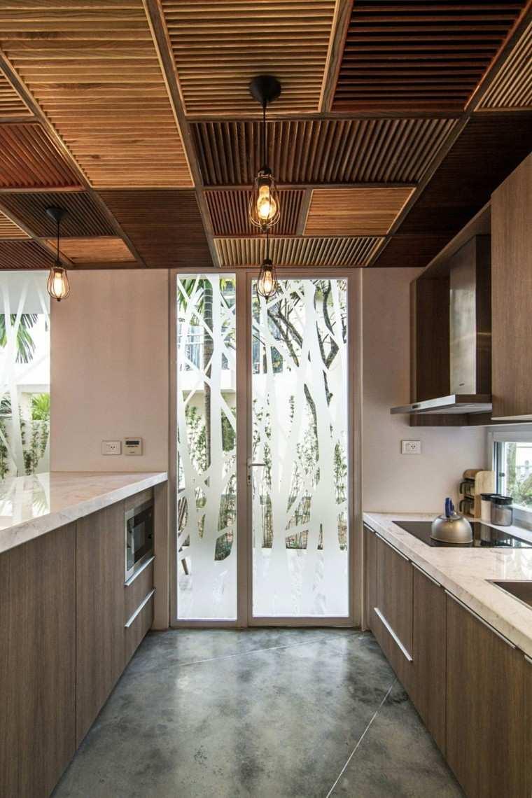 diseño arquitectura lampara cocina techo