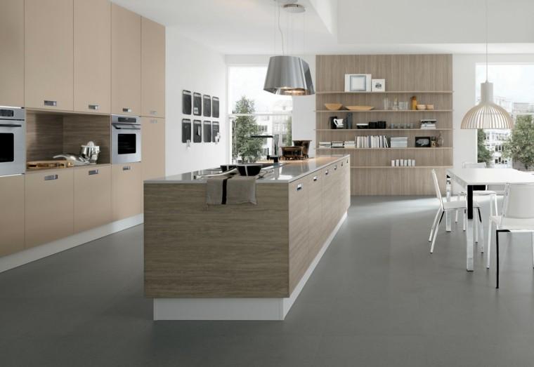 diseño cocina laminado madera clara