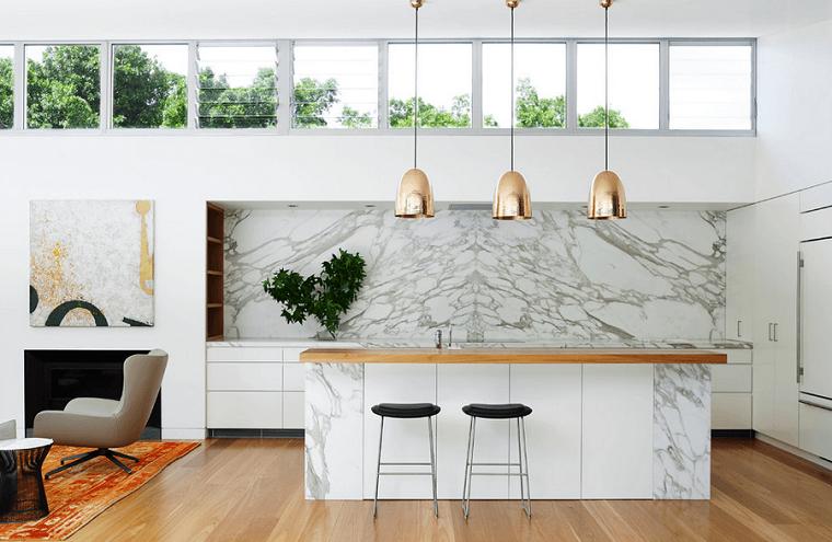 diseño cocinas sillas alfombra textura marmol